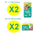 Pack mix - Pampers taille 5: 216 couches + taille 6: 256 couches baby dry giga pack (472 couches)