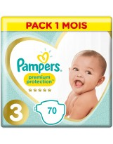 PAMPERS TAILLE 3 PREMIUM PROTECTION  70 COUCHES (2X35 COUCHES)