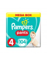 PAMPERS PANTS TAILLE 4 104 COUCHES