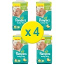 304 COUCHES TAILLE 4+ PAMPERS BABY DRY (4X76)