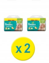 152 COUCHES TAILLE 4+ PAMPERS BABY DRY (2X76)