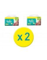 256 COUCHES TAILLE 6 PAMPERS BABY DRY (2 X 64)