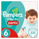 232 COUCHES TAILLE 6 PAMPERS PANTS